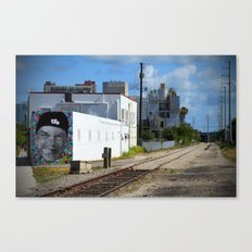 Railroad Face Canvas Print