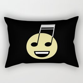 Musical smiley Rectangular Pillow