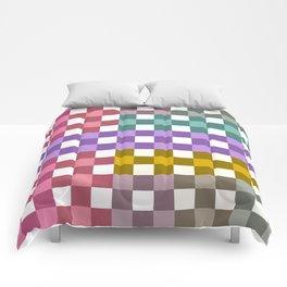 Colorful Checker 01 Comforters