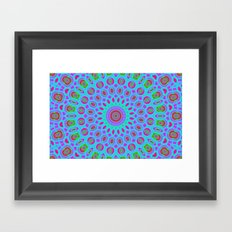 Psychedelic mandala Framed Art Print