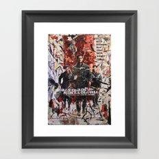 Senza Gloria Framed Art Print