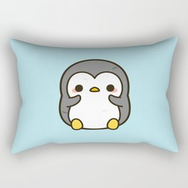 Shy penguin Rectangular Pillow