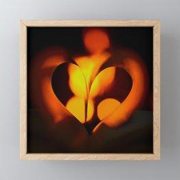 Beautiful Evening in Autumn - Heart Shape with Bokeh Light #decor #society6 #buyart Framed Mini Art Print