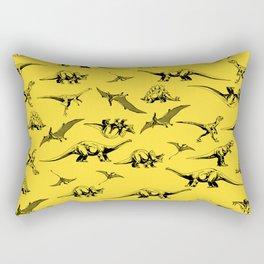 Dinosaurs on yellow background Rectangular Pillow