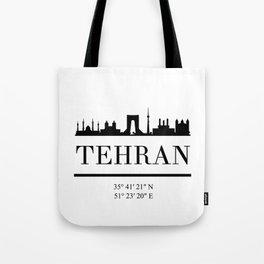 TEHRAN IRAN BLACK SILHOUETTE SKYLINE ART Tote Bag