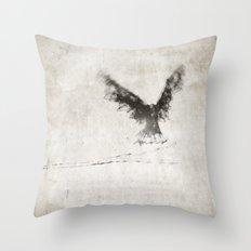 trembling the birch Throw Pillow