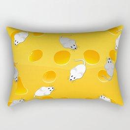 mice on cheese Rectangular Pillow