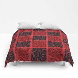 Patchwork . Roses are red. Comforters