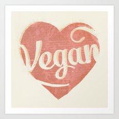 Vegan Love Art Print