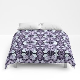 Violet  Roses Seamless Pattern Comforters
