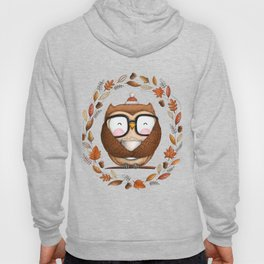 Fall Ready Owl- Illustration Hoody