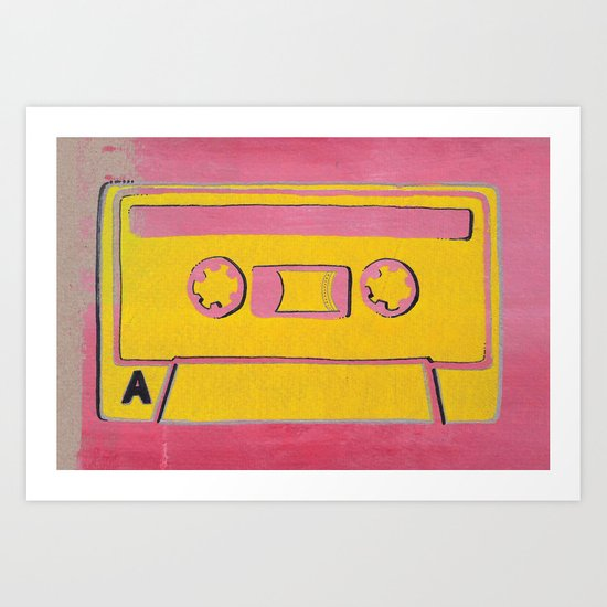 Cassette Tape - Side A Art Print