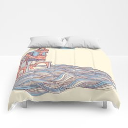 Canute Against The Waves Comforters