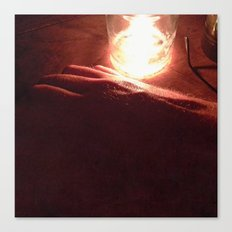 Hand by Candlelight Canvas Print