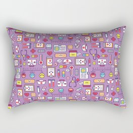 Proud To Be a Nurse Pattern / Purple Rectangular Pillow