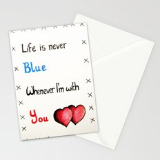 Valentine's: Never Blue Stationery Cards