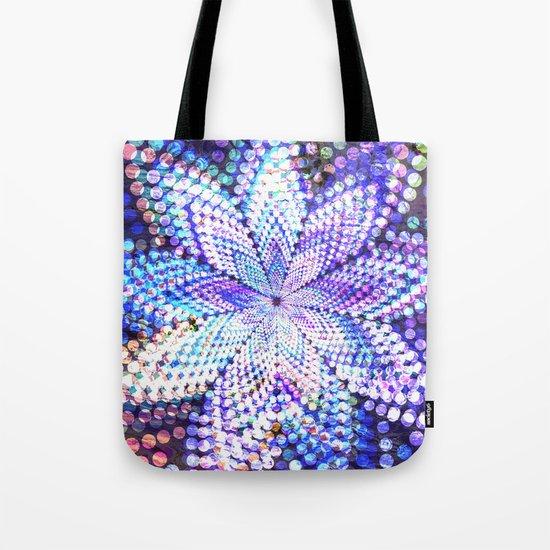 Flower Energy Bokeh Lights Tote Bag