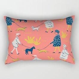 Ladies and Dogs Rectangular Pillow