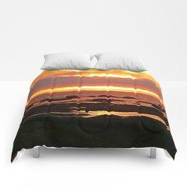 Stunning Orange Sunset Comforters