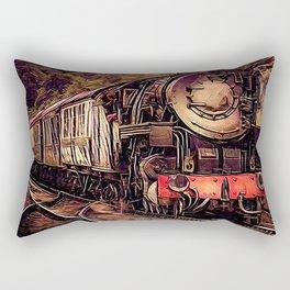 Steam Abstraction Rectangular Pillow