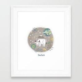 Taurus Earth Framed Art Print