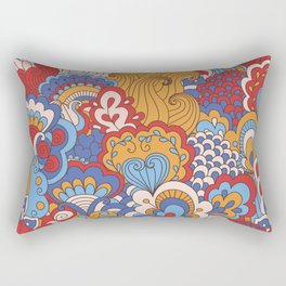 Paisley Pop Art #5 Rectangular Pillow