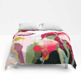 abstract bloom Comforters