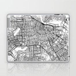 Amsterdam White Map Laptop & iPad Skin