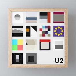 Minimalist U2's History - Grey Framed Mini Art Print