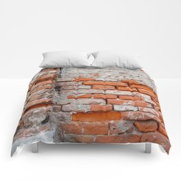Red hand crafted brick Comforters