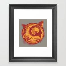 Red cat Rocka Rolla Framed Art Print