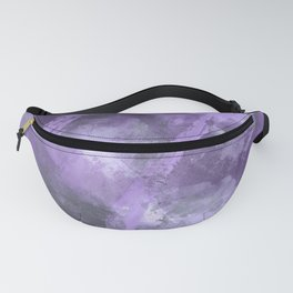 Stormy Abstract Art in Purple and Gray Fanny Pack