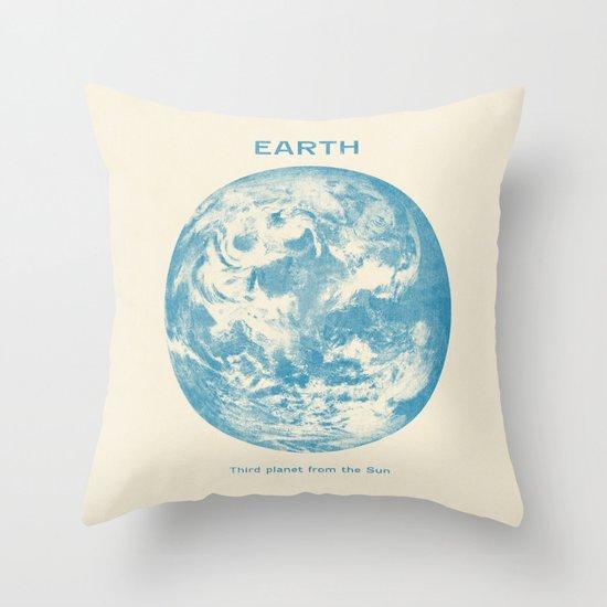 Third Planet  Throw Pillow