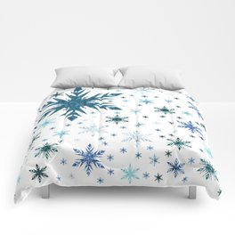 Frosty Abstract Comforters