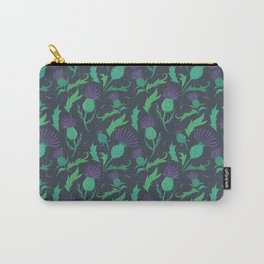 Scottish Thistle Pattern Carry-All Pouch