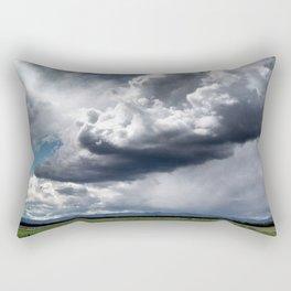 Clouds Over Field Rectangular Pillow