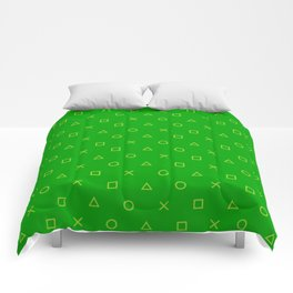 Green Gamer Pattern Comforters