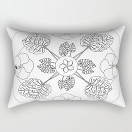 Tropical Flowers & Foliage Rectangular Pillow