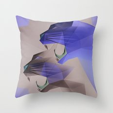 Geometric Cats Throw Pillow