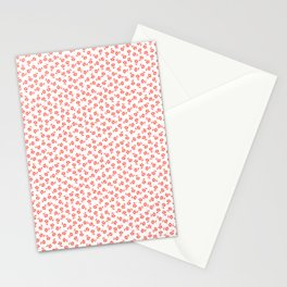 Forget Me Nots - Living Coral on White Stationery Cards