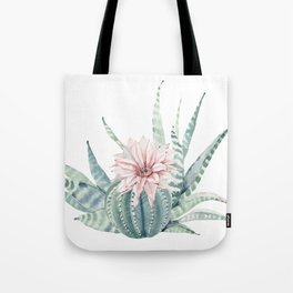 Petite Cactus Echeveria Tote Bag