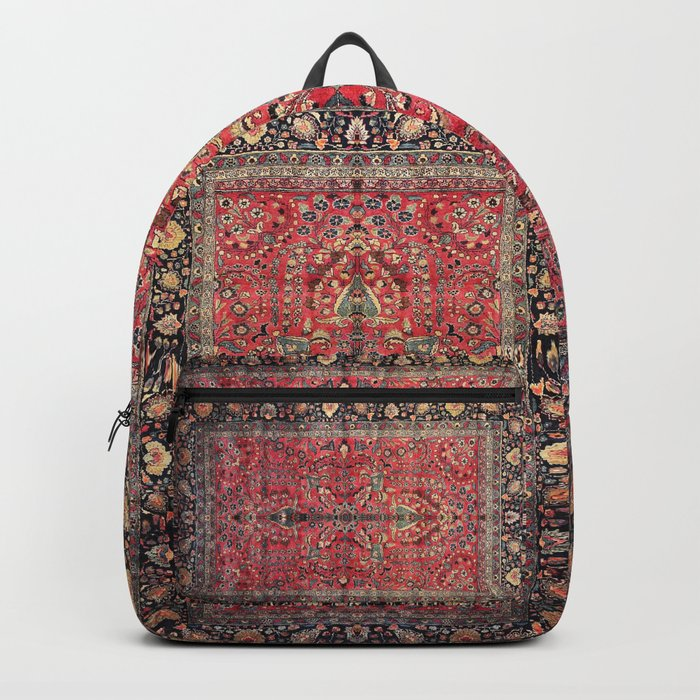 Antique Persian Red Rug Backpack