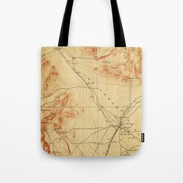 Vintage Map of The Las Vegas Valley NV (1907) Tote Bag