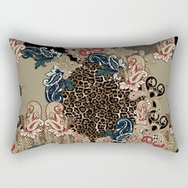 Paisley and Leopar Power Rectangular Pillow
