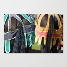 Jousting Horse - Braided Canvas Print
