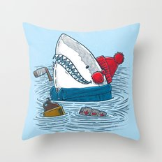 Great White North Shark Throw Pillow