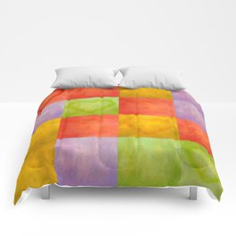 Colored Tiles with Hearts Comforters