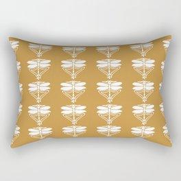 Orange Zest Arts and Crafts Dragonflies Rectangular Pillow