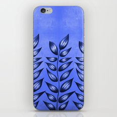 Blue Plant With Pointy Leaves iPhone & iPod Skin