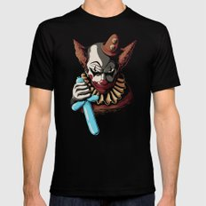 Clowns are Evil MEDIUM Black Mens Fitted Tee